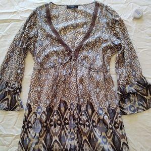 Lightweight patterned dress